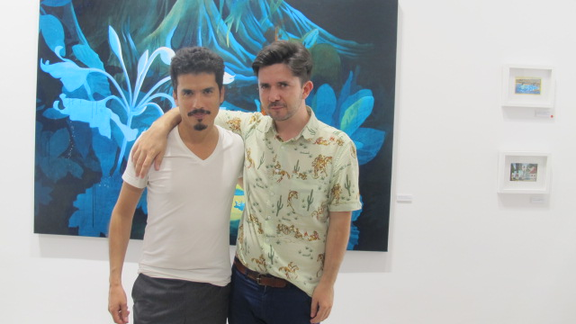Y aquí el señor Borja Prieto con el artista: Victor Castillo.